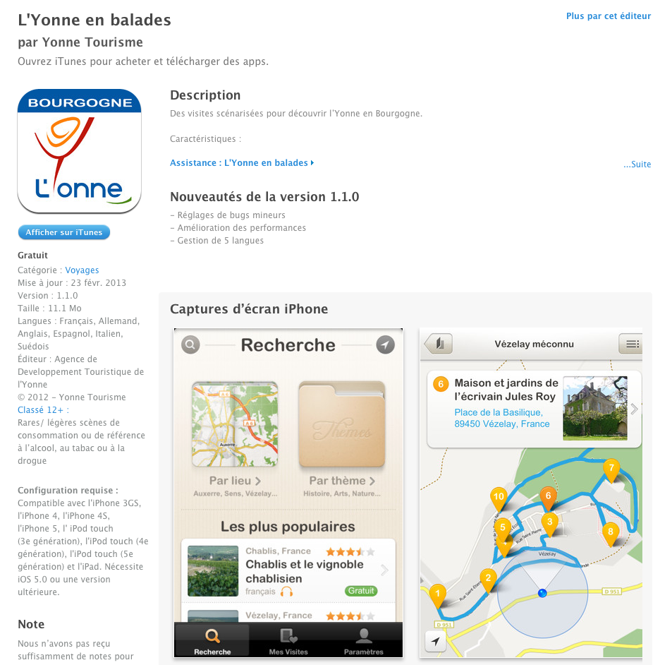 app iphone yonne